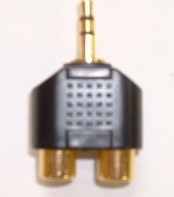 Audio/Video Adaptor 3.5mm Stereo Plug to 2 X RCA Socket
