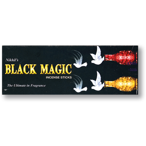 Incense - Black Magic - 20 Sticks, Nikhil's, Hex Pack