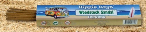 Incense - Woodstock Sandal - Hippie Days, 12 Sticks, 15g