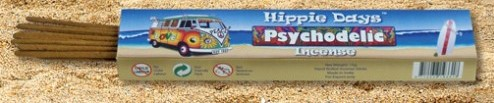 Incense - Psychodelic - Hippie Days, 12 Sticks, 15g