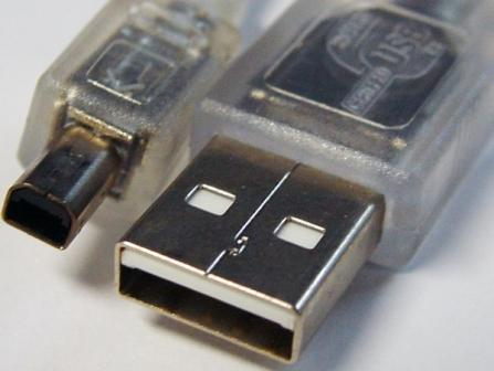 USB 2.0 Certified Cable A-B 4 Pin Mini 1m