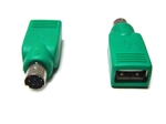 USB to PS2 Male Converter for Mouse Green