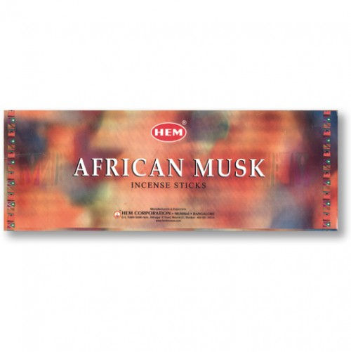 Incense - African Musk - 8 Sticks, Hem, Square Pack
