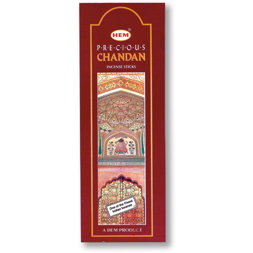 Incense - Precious Chandan - 8 Sticks, Hem, Square Pack