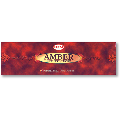 Incense - Precious Amber - 8 Sticks, Hem, Square Pack