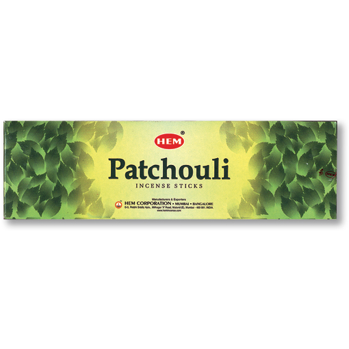 Incense - Patchouli - 8 Sticks, Hem, Square Pack