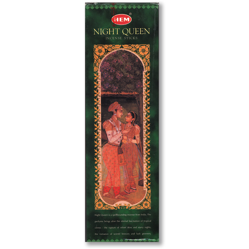 Incense - Night Queen - 8 Sticks, Hem, Square Pack