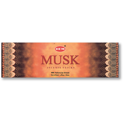 Incense - Musk - 8 Sticks, Hem, Square Pack
