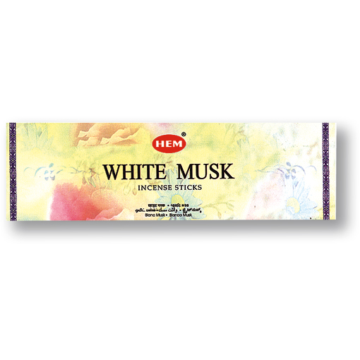 Incense - White Musk - 8 Sticks, Hem, Square Pack