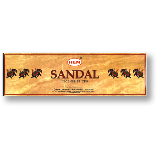 Incense - Sandal - 8 Sticks, Hem, Square Pack