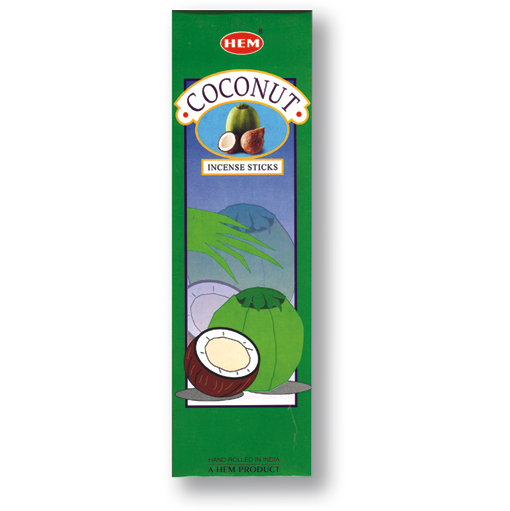 Incense - Coconut - 8 Sticks, Hem, Square Pack