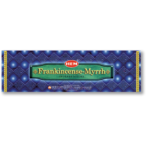 Incense - Frankincense Myrrh - 8 Sticks, Hem, Square Pack