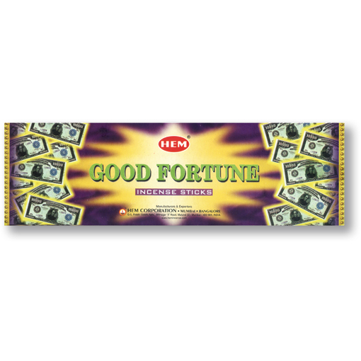 Incense - Good Fortune - 8 Sticks, Hem, Square Pack