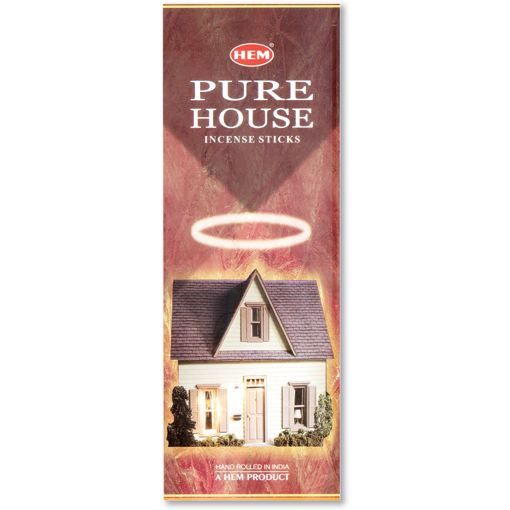 Incense - Pure House - 8 Sticks, Hem, Square Pack