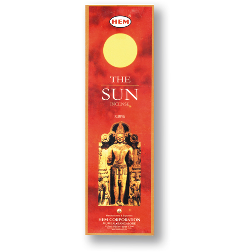 Incense - The Sun - 8 Sticks, Hem, Square Pack