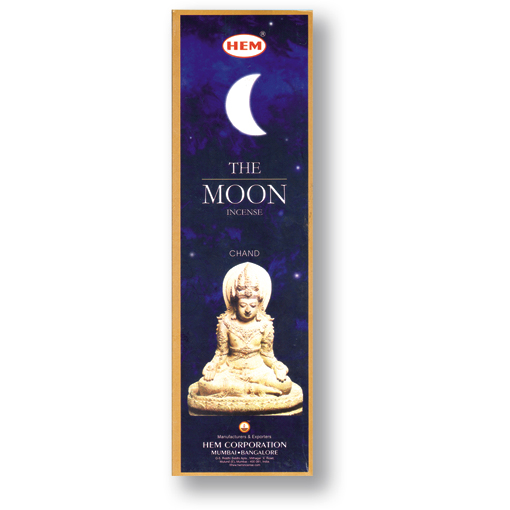 Incense - The Moon - 8 Sticks, Hem, Square Pack