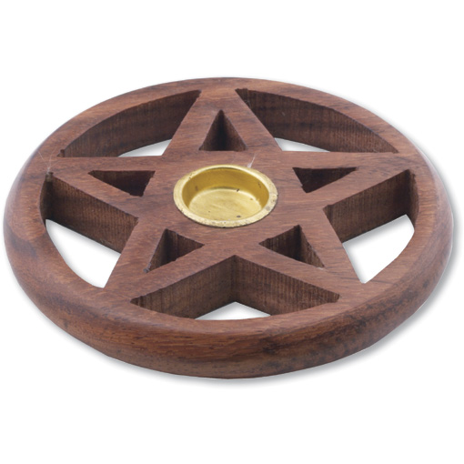 Wooden Pentagram Cone Holder