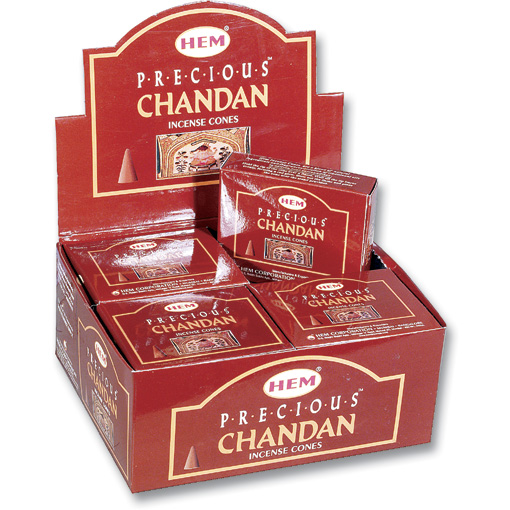 Incense Cones - Precious Chandan - 10 Cone Packet, Hem