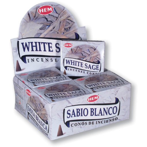 Incense Cones - White Sage - 10 Cone Packet, Hem