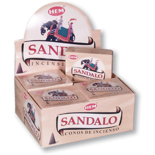 Incense Cones - Sandal - 10 Cone Packet, Hem