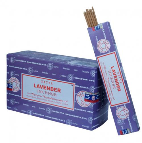 Incense - Lavender - Satya 15 gram (Approx 12 sticks)