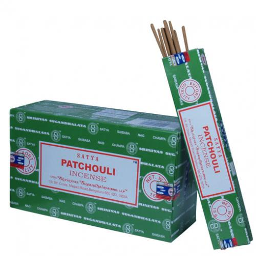 Incense - Patchouli - Satya 15 gram (Approx 12 sticks)