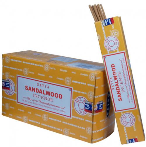 Incense - Sandalwood - Satya 15 gram (Approx 12 sticks)