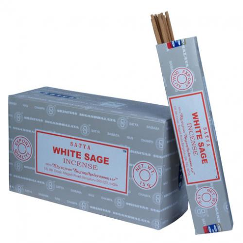Incense - White Sage - Satya 15 gram (Approx 12 sticks)