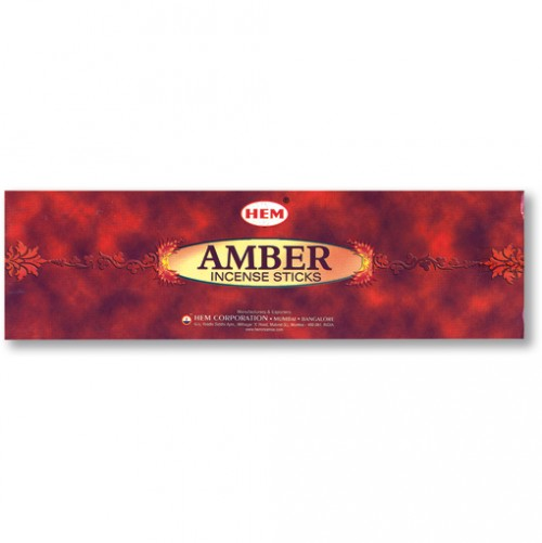 Incense - Amber - 20 Sticks, Hem, Hex Pack