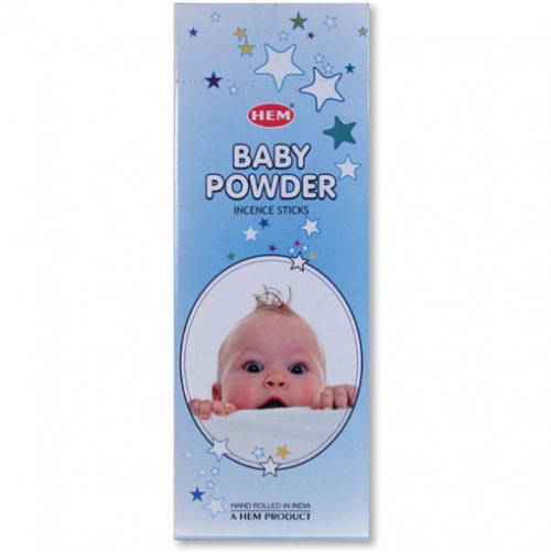 Incense - Baby Powder - 20 Sticks, Hem, Hex Pack