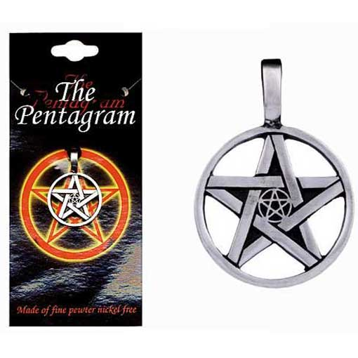 Pewter Pentagram Necklace - Style 01