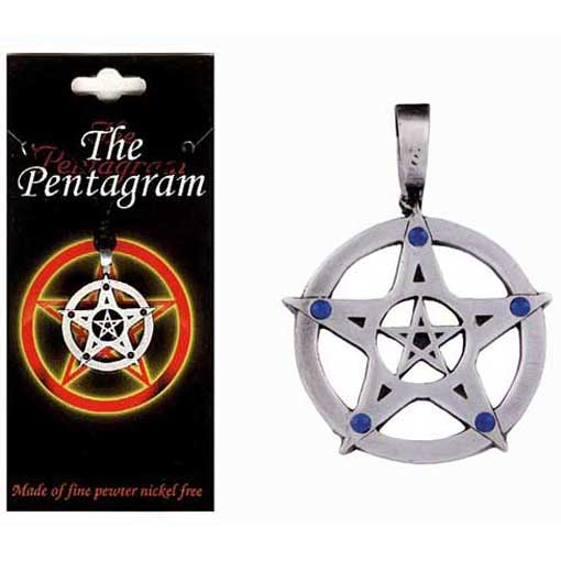 Pewter Pentagram Necklace - Style 02