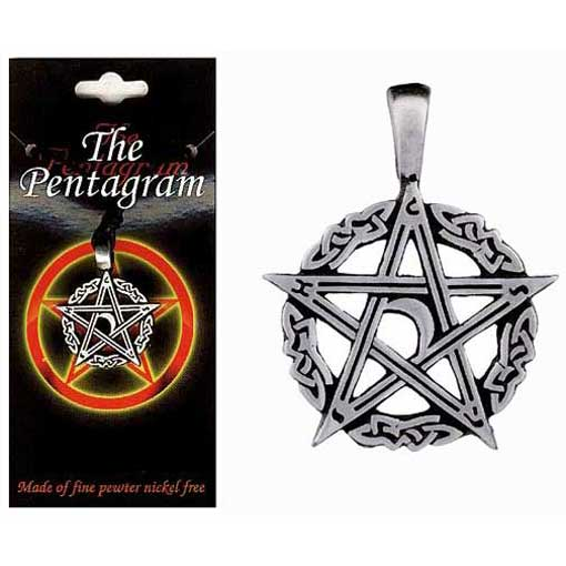 Pewter Pentagram Necklace - Style 03