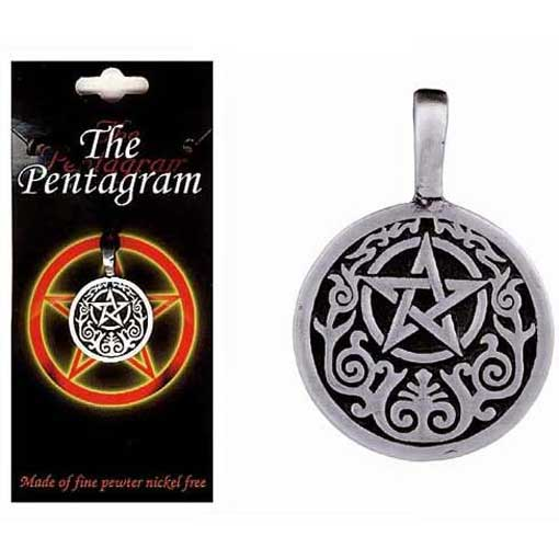 Pewter Pentagram Necklace - Style 04
