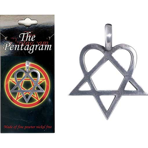 Pewter Pentagram Necklace - Style 06