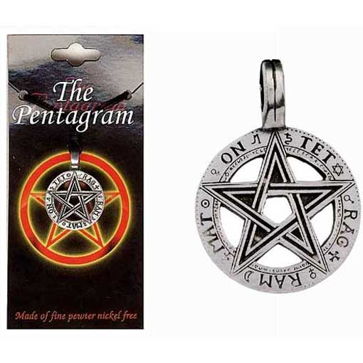 Pewter Pentagram Necklace - Style 07