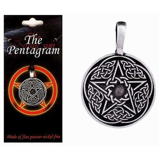 Pewter Pentagram Necklace - Style 10